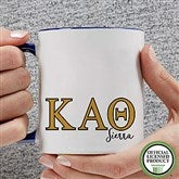 Kappa Alpha Theta Personalized Greek Letter Coffee Mug 11 oz.- Blue - 20281-BL
