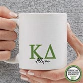 Kappa Delta Personalized Greek Letter Coffee Mug 11 oz.- White - 20282-S