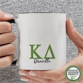 Kappa Delta Personalized Greek Letter Coffee Mug 11 oz.- Black - 20282-B