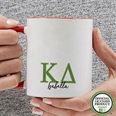 Kappa Delta Personalized Greek Letter Coffee Mug 11 oz.- Red - 20282-R