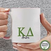 Kappa Delta Personalized Greek Letter Coffee Mug 11 oz.- Pink - 20282-P