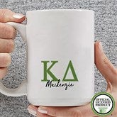 Kappa Delta Personalized Greek Letter Coffee Mug 15 oz.- White - 20282-L
