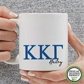 Kappa Kappa Gamma Personalized Greek Letter Coffee Mug 11 oz.- White - 20283-S