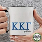 Kappa Kappa Gamma Personalized Greek Letter Coffee Mug 11 oz.- Black - 20283-B