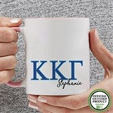 Kappa Kappa Gamma Personalized Greek Letter Coffee Mug 11 oz.- Pink - 20283-P