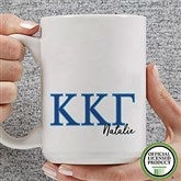 Kappa Kappa Gamma Personalized Greek Letter Coffee Mug 15 oz.- White - 20283-L