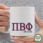 Pi Beta Phi Personalized Greek Letter Coffee Mug 11 oz.- White - 20284-S