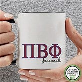 Pi Beta Phi Personalized Greek Letter Coffee Mug 11 oz.- Black - 20284-B