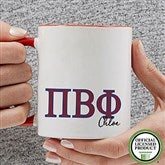 Pi Beta Phi Personalized Greek Letter Coffee Mug 11 oz.- Red - 20284-R