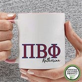 Pi Beta Phi Personalized Greek Letter Coffee Mug 11 oz.- Pink - 20284-P