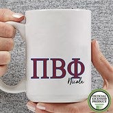 Pi Beta Phi Personalized Greek Letter Coffee Mug 15 oz.- White - 20284-L