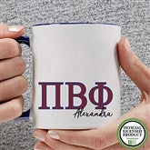 Pi Beta Phi Personalized Greek Letter Coffee Mug 11 oz.- Blue - 20284-BL