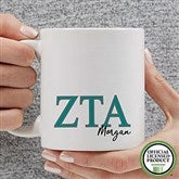 Zeta Tau Alpha Personalized Greek Letter Coffee Mug 11 oz.- White - 20285-S