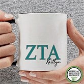 Zeta Tau Alpha Personalized Greek Letter Coffee Mug 11 oz.- Black - 20285-B