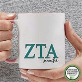 Zeta Tau Alpha Personalized Greek Letter Coffee Mug 11 oz.- Pink - 20285-P
