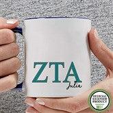 Zeta Tau Alpha Personalized Greek Letter Coffee Mug 11 oz.- Blue - 20285-BL