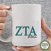 Zeta Tau Alpha Personalized Greek Letter Coffee Mug 15 oz.- White - 20285-L