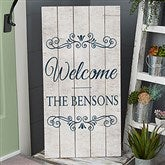 Welcome Personalized Standing Wood Sign - 20419