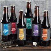 First Father's Day Personalized Beer Bottle Labels - 20426-L