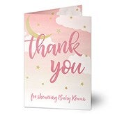 Over The Moon Personalized Thank You Greeting Card - 20427