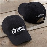 Bridal Party Embroidered Black Baseball Cap - 20446-B