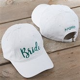 Bridal Party Embroidered White Baseball Cap - 20446-W
