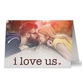 I Love Us Personalized Photo Greeting Card - 20454