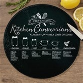 Kitchen Conversions  Personalized Round Glass Cutting Board- 12