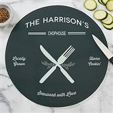 Farmhouse Kitchen Personalized Round Glass Cutting Board - 12