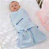 HALO® SleepSack® Personalized Blue Cotton Swaddle Blanket - 20474-B