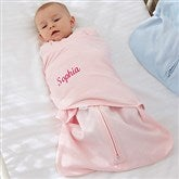 HALO® SleepSack® Personalized Pink Cotton Swaddle Blanket - 20474-P