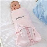 HALO® SleepSack® Personalized Pink Micro-Fleece Swaddle Blanket - 20477-P