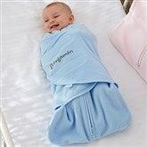 HALO® SleepSack® Personalized Blue Micro-Fleece Swaddle Blanket - 20477-B