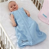HALO® SleepSack® Personalized Blue Micro-Fleece Wearable Blanket - 20481-B