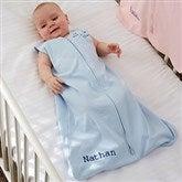 HALO® SleepSack® Personalized Blue Cotton Wearable Blanket - 20482-B