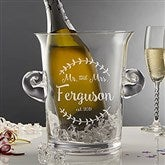 Mr. & Mrs. Engraved Crystal Ice Bucket & Chiller - 20486