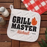 Master Of The Grill Personalized Potholder - 20488-AP