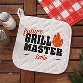 Future Master Of The Grill Personalized Potholder - 20488-YP