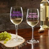 I Drink Because... Personalized 12oz. White Wine Glass - 20496-WN