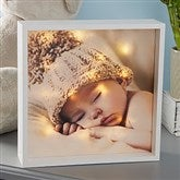 Personalized Baby Photo LED Light Shadow Box- 10