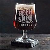 Beer Snob Personalized Belgium Craft Beer Glass - 20544