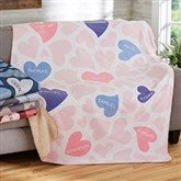 Loving Hearts Personalized 60x80 Sherpa Blanket - 20545-SL