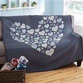 Heart Of Hearts Personalized Woven Throw - 20546-A