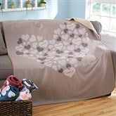 Heart Of Hearts Personalized 50x60 Sherpa Blanket - 20546-S
