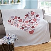 Heart Of Hearts Personalized 50x60 Sweatshirt Blanket - 20546-SW