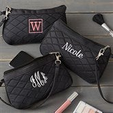 Embroidered Quilted Wristlet - 20548