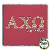 Alpha Chi Omega Personalized Greek Letter Woven Throw - 20550-A