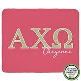 Alpha Chi Omega Personalized Greek Letter 60x80 Sherpa Blanket - 20550-SL