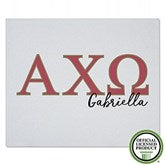 Alpha Chi Omega Personalized Greek Letter Sweatshirt Blanket - 20550-SW