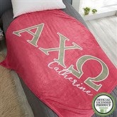 Alpha Chi Omega Personalized Greek Letter 50x60 Fleece Blanket - 20550-F